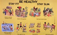 Stay fit be healthy stay slim poster