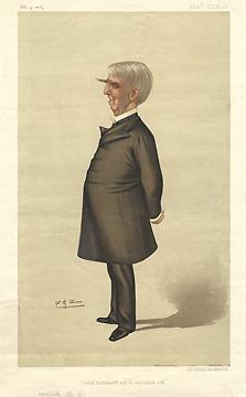 Caricature of Oliver Wendell Holmes, Sr.