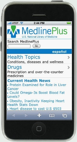 iPhone with Mobile MedlinePlus