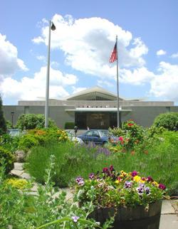 Herb garden in front of NLM