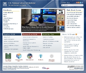 New NLM Homepage