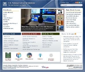 New NLM Homepage