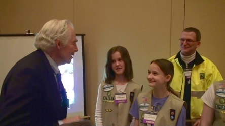 Girl Scouts exhibit at symposium