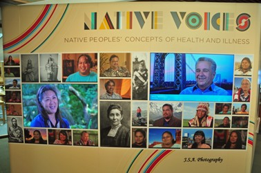 Native Voices Exhibition Welcome Wall