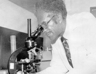 Dr. Charles Whitten in lab