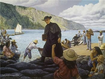 Father Damien Painting