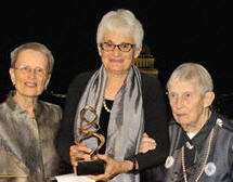 Photo of Barbara Redman, Anna Schnitzer, and Lucretia McClure