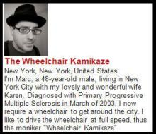 Wheelchair Kamikazi blog excerpt