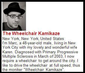 Wheelchair Kamikazi blog excerpt