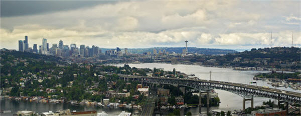 Panoramic view of Seattle