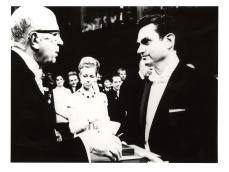 King Gustaf VI Adolf hands Nobel Prize to Marshall Nirenberg