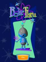 Opening screen of the game Bohr Thru showing an alien creature under the title