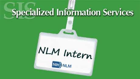 "A mock I.D. badge reading ""NLM Intern"""