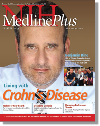 The cover of the Winter 2016 issue of NIH MedlinePlus Magazine showing Benjamin King