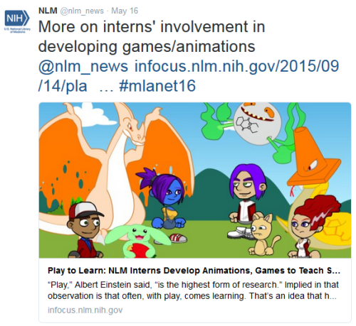 More on interns' involvement in developing games & animations.