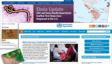 Snippets of web pages regarding Ebola and Zika that are part of the archived collection of global health events.
