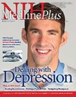 Cover of Winter 2017 issue of MedlinePlus magazine with photo of Michael Phelps