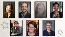 Headshots of six women and one man
