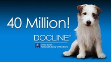 DOCLINE--and its mascot, Tugger--celebrate its 40 millionth request
