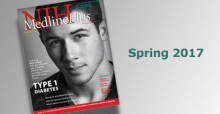 Cover of Spring 2017 issue of MedlinePlus magazine with photo of Nick Jonas