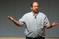 Dr. Landsman gestures as he speaks