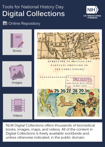 montage of images representing NLM's Digital Collections