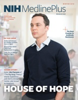 cover of magazine featuring Jim Parsons