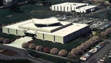 aerial view of NLM in 1968