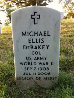 Headstone for Michael DeBakey