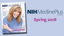 cover of NIH MedlinePlus magazine featuring Leeza Gibbons