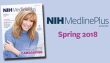 cover of NIH MedlinePlus magazine featuring Leeza Gibbons