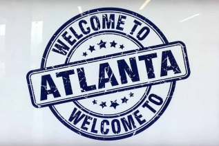 "sign reading ""Welcome to Atlanta"""