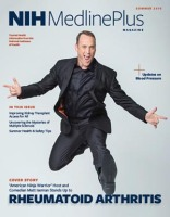 cover of NIH MedlinePlus magazine featuring Matt Iseman