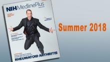 cover of NIH MedlinePlus magazine featuring Matt Iseman