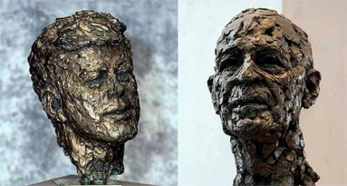 distinctive busts of John F. Kennedy and Lister Hill