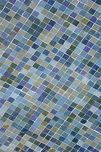 mosaic tiles in hues of green and blue