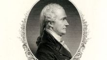 portrait of Alexander Hamilton in profile