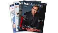 cover of NIH MedlinePlus magazine featuring Bob Saget
