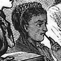 black and white sketch of Rebecca J. Cole, MD