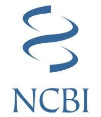 NCBI logo: a concept graphic of a double helix
