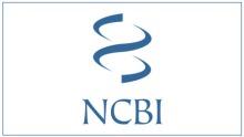 NCBI logo: a concept graphic of a double helix