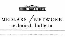 masthead from the first NLM Technical Bulletin