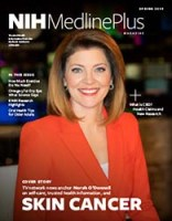 cover of NIH MedlinePlus magazine featuring Norah O'Donnell