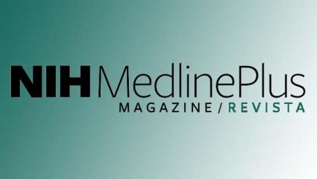 MedlinePlus magazine logo in English and Spanish