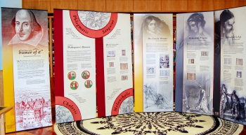 "NLM banner exhibition ""And There's the Humor of It"": Shakespeare and the four humors"