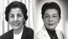 Photo of Selma DeBakey (left, 1915-2013) and Lois DeBakey, PhD (right, 1920-2016).