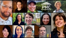 Photo collage of members of NLM's PMC staff