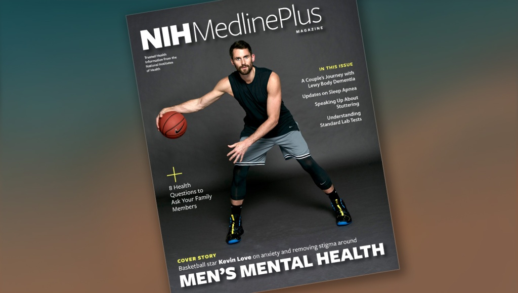 NBA star Kevin Love on the cover of the Fall 2019 issue of MedlinePlus Magazine